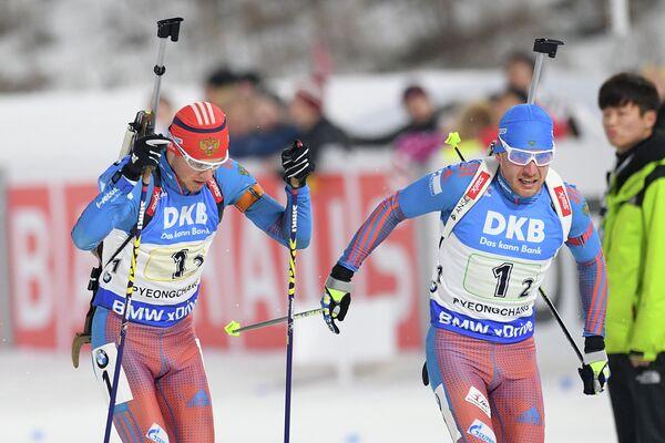 Антон Бабиков (Россия) (слева) и Евгений Гараничев (Россия)