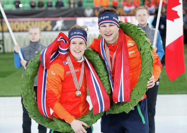 Ирен Вюст и Свен Крамер