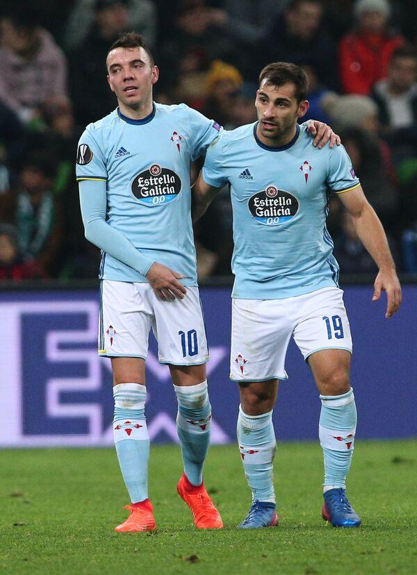 Футболисты Сельты Яго Аспас (слева) и Хонни