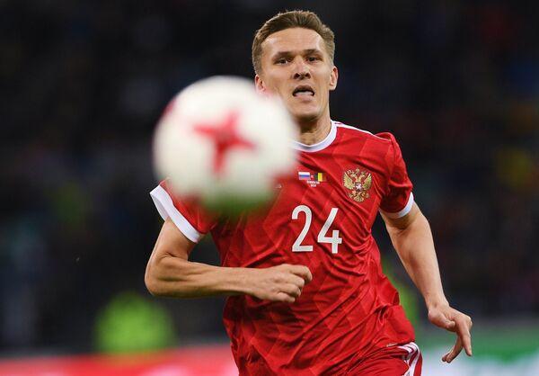 Нападающий сборной России Александр Бухаров
