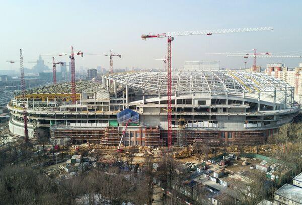 Работы, связанные с реконструкцией футбольного стадиона Динамо в Москве