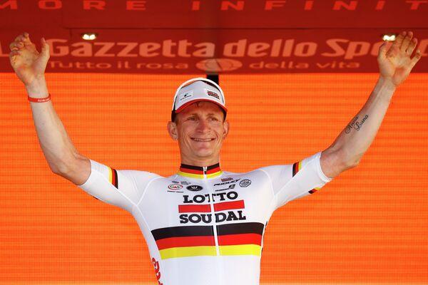 Немецкий велогонщик Андре Грайпель из команды Lotto Soudal
