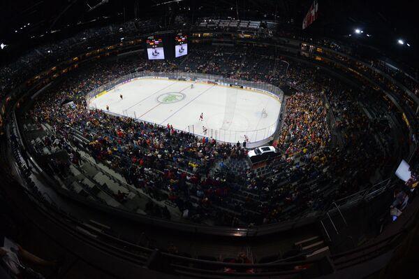 Матч группового этапа чемпионата мира по хоккею 2017 между сборными командами Германии и России