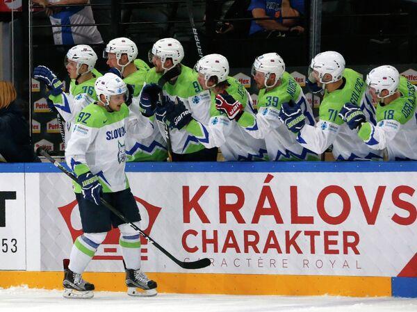 Хоккеисты сборной Словении