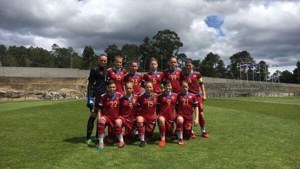 Футболистки юниорской сборной России (игроки не старше 17 лет)