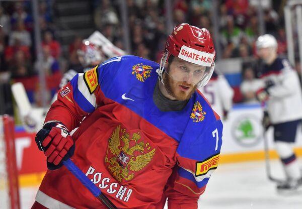 Форвард сборной России Иван Телегин