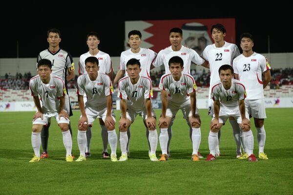 Футболисты сборной Северной Кореи