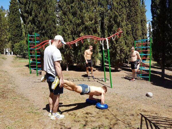 Группа Юрия Каминского на подготовке в Республике Крым