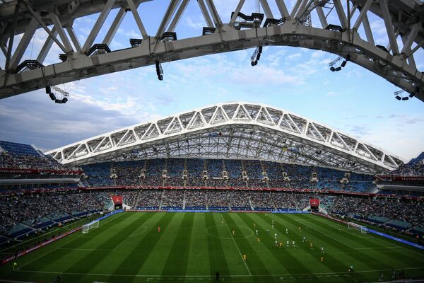 Стадион Фишт во время матча Кубка конфедераций-2017 по футболу между сборными Австралии и Германии