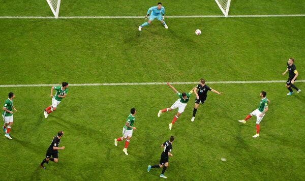 Игровой момент матча Мексика – Новая Зеландия