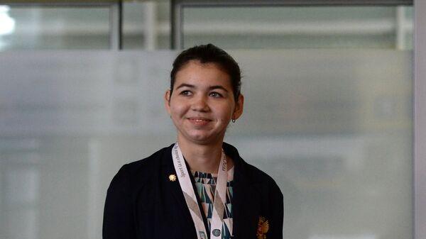 Член женской сборной России по шахматам Александра Горячкина