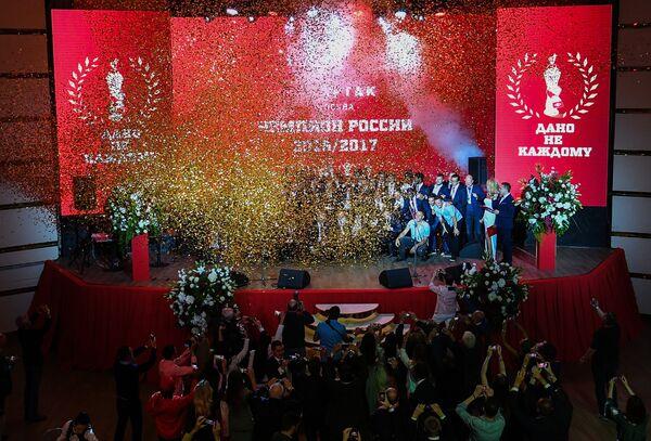 Церемония награждения игроков и тренеров ФК Спартак