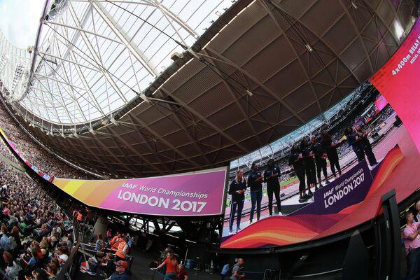 Болельщики во время соревнований чемпионата мира 2017 по легкой атлетике в Лондоне