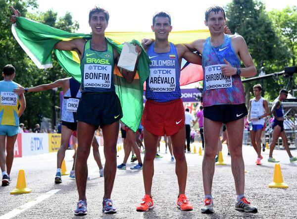 Кайо Бофим, Эйдер Аревало и Сергей Широбоков (слева направо)