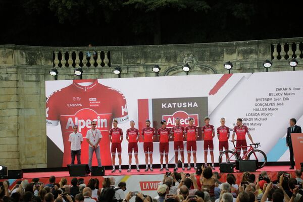 Презентация велокоманды Katusha-Alpecin перед стартом Вуэльты Испании