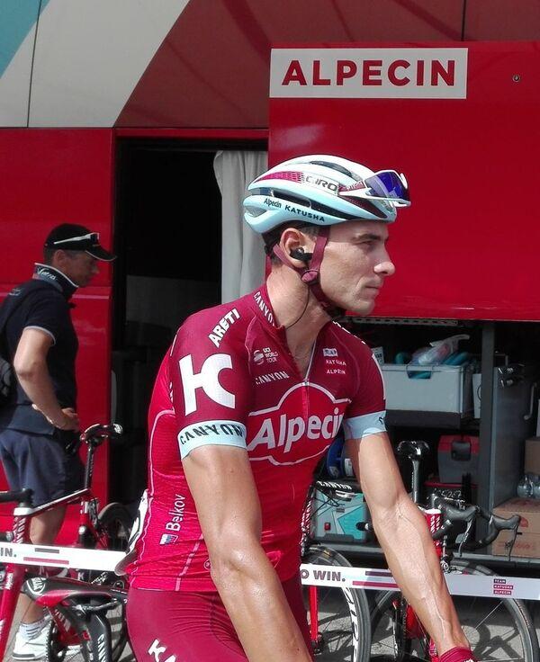 Велогонщик из команды Katusha-Alpecin Максим Бельков