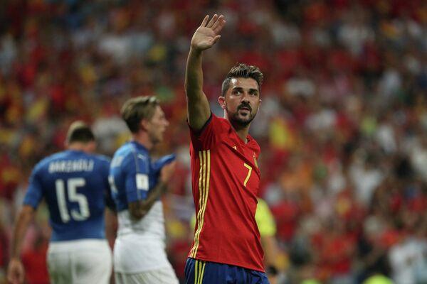 Испанский футболист Давид Вилья