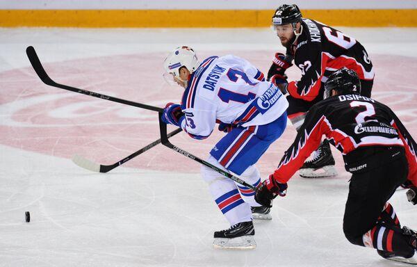 Игровой момент матча Авангард - СКА
