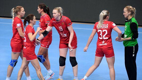 Игроки женской сборной России по гандболу