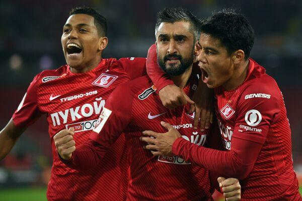 Игроки Спартака Педро Роша, Александр Самедов и Лоренсо Мельгарехо (слева направо)