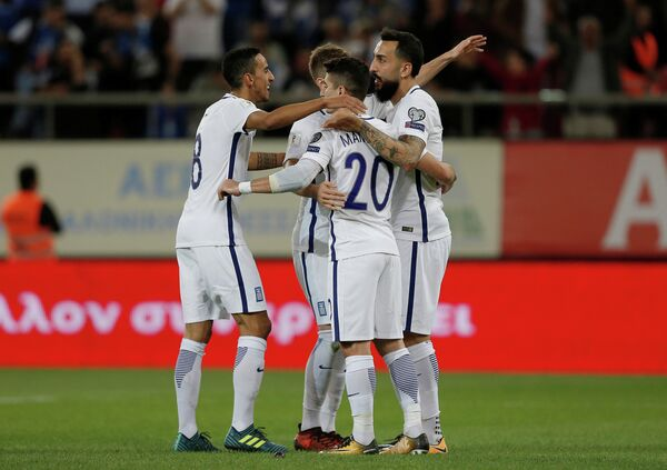 Футболисты сборной Греции