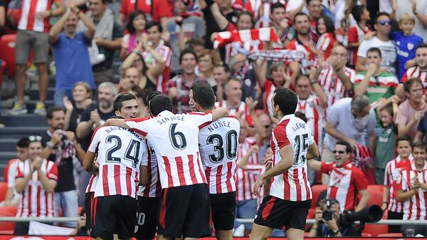 Футболисты клуба Атлетик из Бильбао
