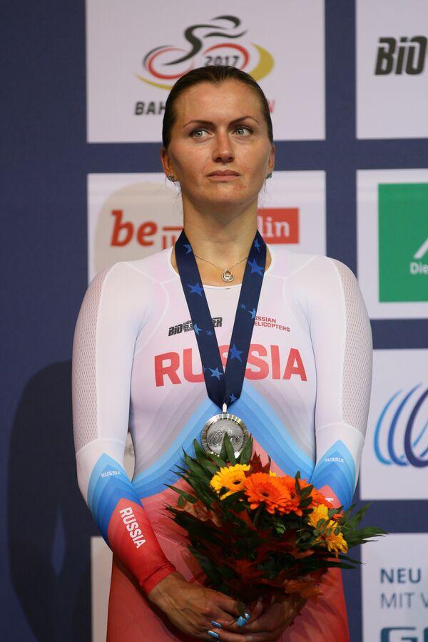 Экс-чемпионка Европы, призер чемпионата Европы по велоспорту на треке Евгения Аугустинас