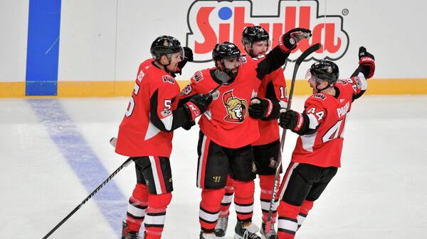 Хоккеисты клуба НХЛ Оттава Сенаторз