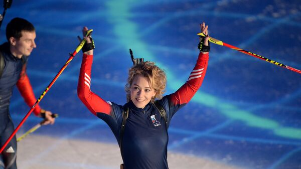 Биатлонистка Ольга Зайцева