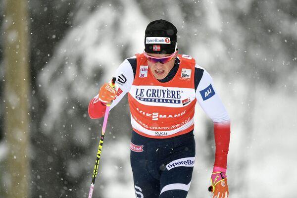 Норвежский лыжник Йоханнес Клебо