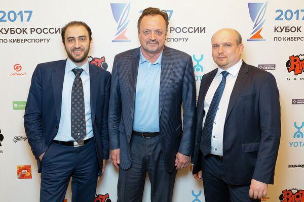 Эмин Антонян, Виктор Гусев, Дмитрий Смит (слева направо)