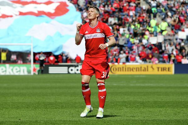 Немецкий полузащитник клуба MLS (Высшей футбольной лиги США и Канады) Чикаго Файр Бастиан Швайнштайгер