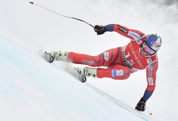 Норвежский горнолыжник Аксель Лунд Свиндаль