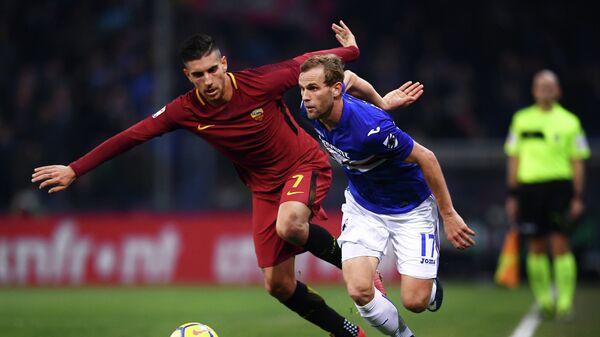Игровой момент матча чемпионата Италии Сампдория - Рома