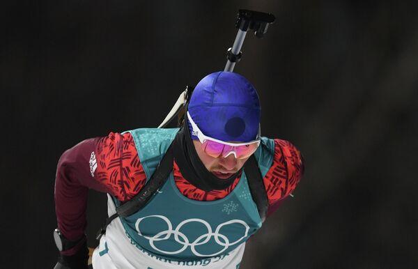 Российский биатлонист Антон Бабиков