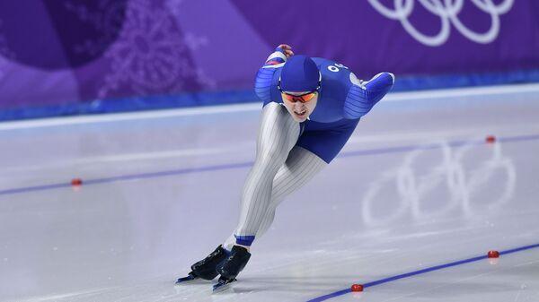Российская конькобежка Ангелика Голикова