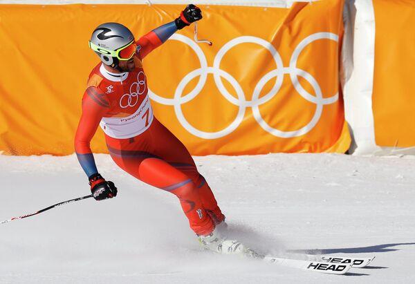 Норвежский горнолыжник Аксель Лунд Свиндал