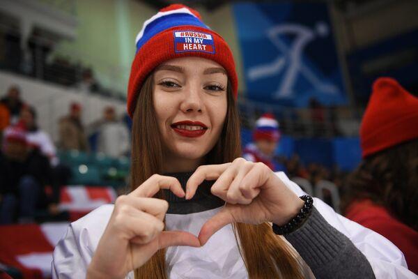 Болельщица женской сборной России по хоккею