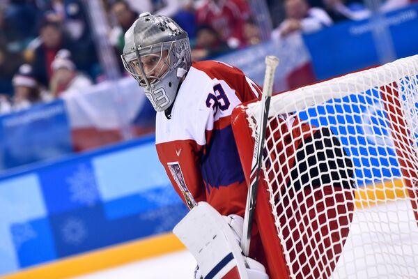 Голкипер сборной Чехии по хоккею Павел Францоуз