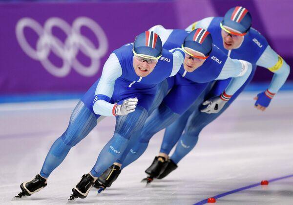 Норвежские конькобежцы