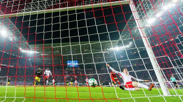 Игровой момент матча Лейпциг - Боруссия (Дортмунд)