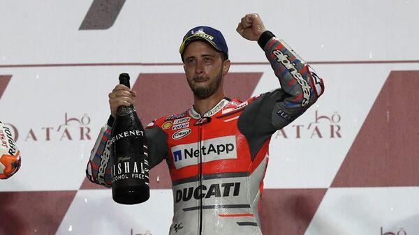 Итальянский мотогонщик Андреа Довициозо из команды Ducati