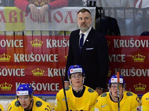 Главный тренер сборной Швеции Рикард Гренборг