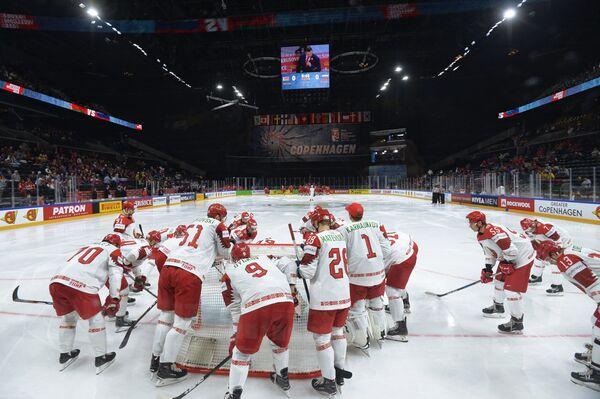 Хоккеисты сборной Белоруссии