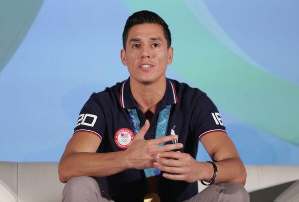 Двукратный олимпийский чемпион по тхэквондо из США Стивен Лопес