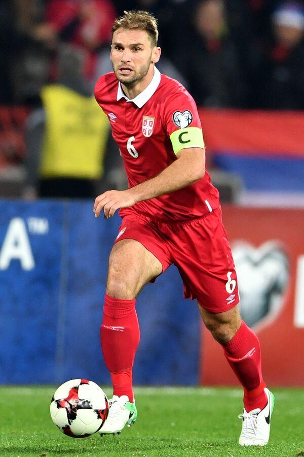 Защитник сборной Сербии и Зенита Бранислав Иванович