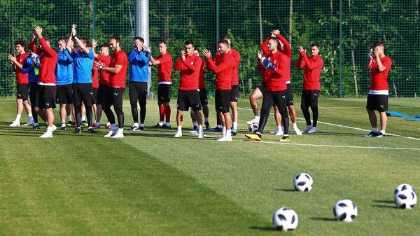 Тренировка сборной Сербии