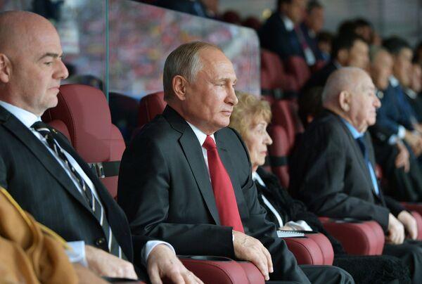 Президент РФ Владимир Путин на церемонии открытия Чемпионата мира по футболу-2018. Архивное фото
