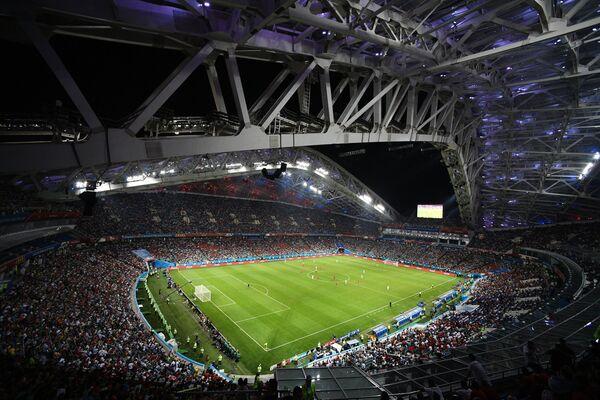 Стадион Фишт во время матча