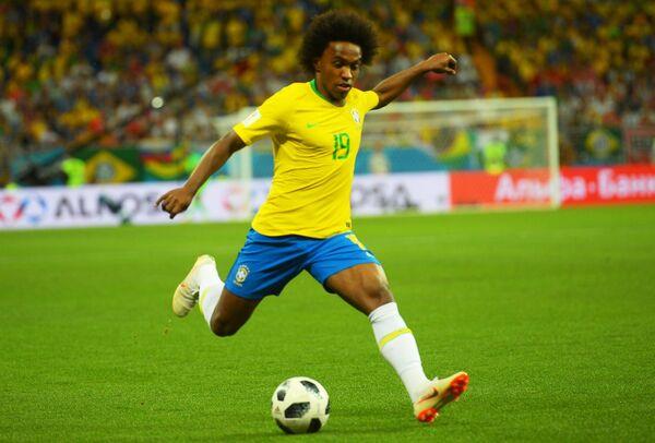 Полузащитник сборной Бразилии Виллиан